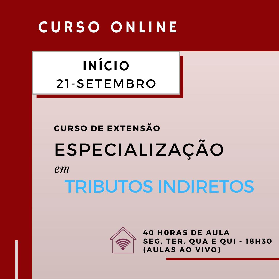 Especialização em Tributos Indiretos (online)