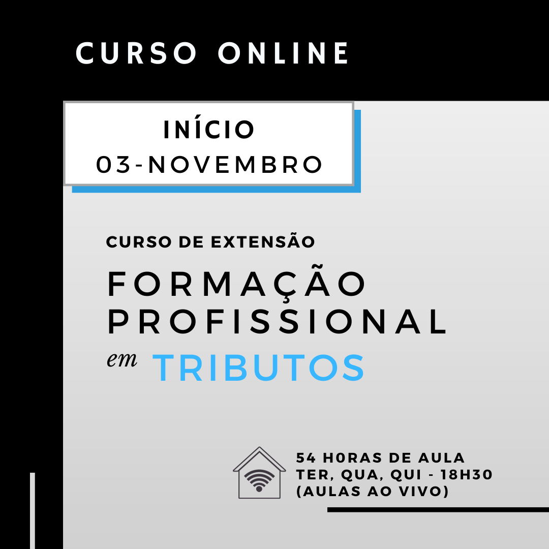 Curso de Formação Profissional em Tributos (Online)
